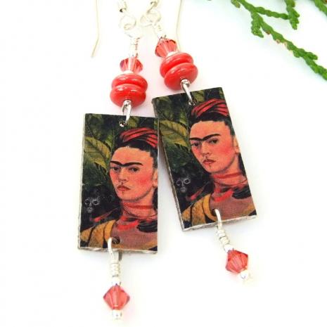 unique frida kahlo earrings