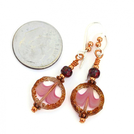 pink and brown mothers day jewelry gift idea
