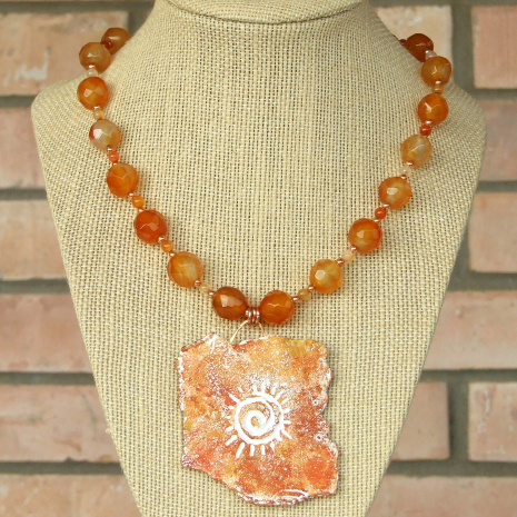 unique southwest spiral sun jewelry necklace gift