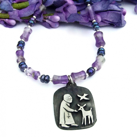 st francis necklace jewelry gift for her