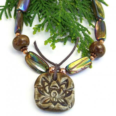 Lotus yoga necklace.