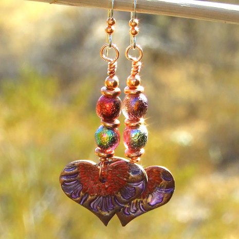 valentines day heart flowers jewelry gift for women