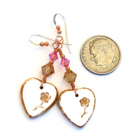 valentines heart jewelry gift for her