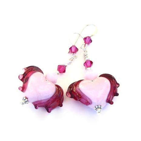 valentines heart jewelry swarovski crystals