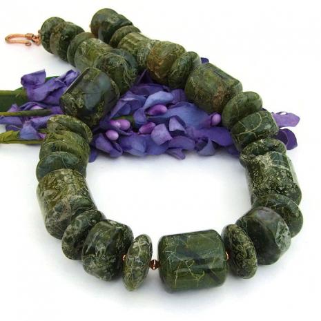 Green gemstone jewelry for women.