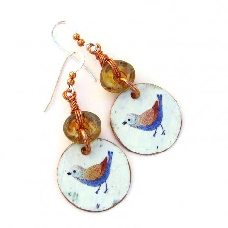vintage look bird lover jewelry gift for women