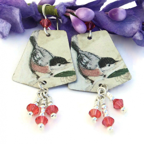 bird earrings gift idea for women