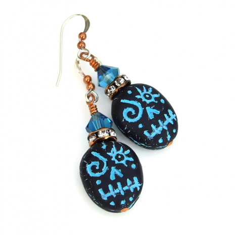 voodoo skulls earrings gift for women