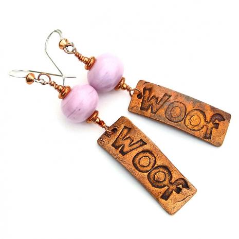 Woof handmade earrings.