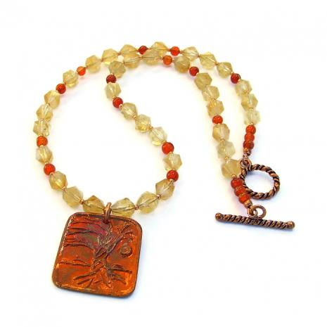 artisan tree of life necklace.