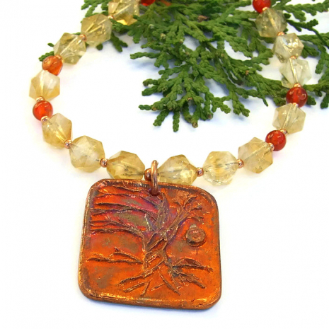 handmade tree of life jewelry for women