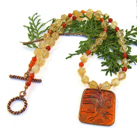 tree of life necklace jewelry gift for women