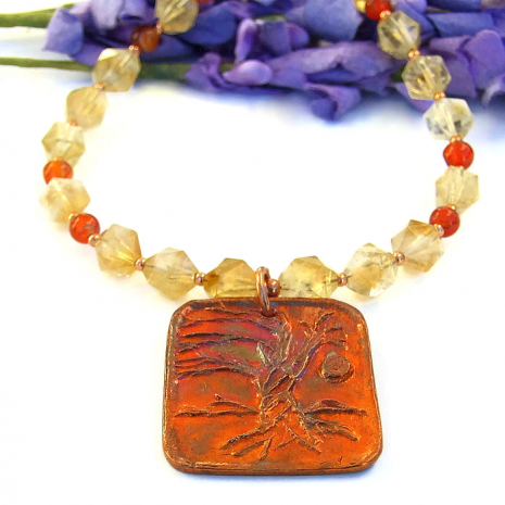 one of a kind tree of life world tree necklace