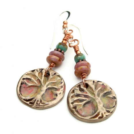 yggdrasil tree of life earrings for her