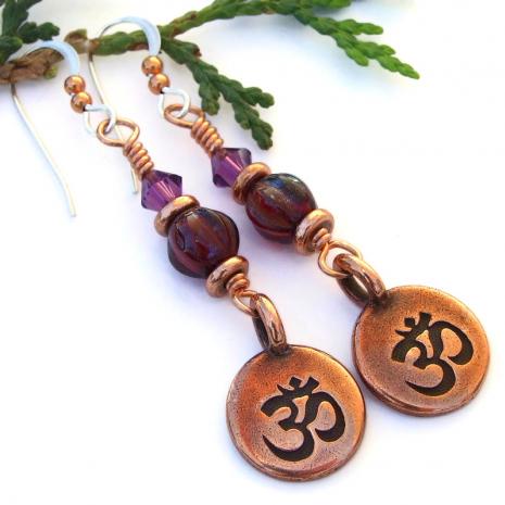yoga chakra jewelry copper red violet