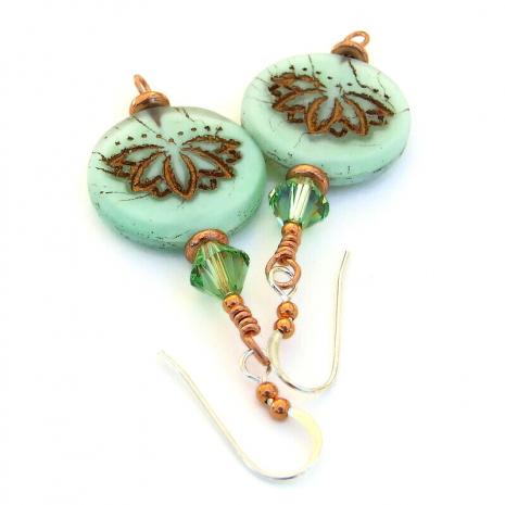 yoga jewelry glass lotus flowers