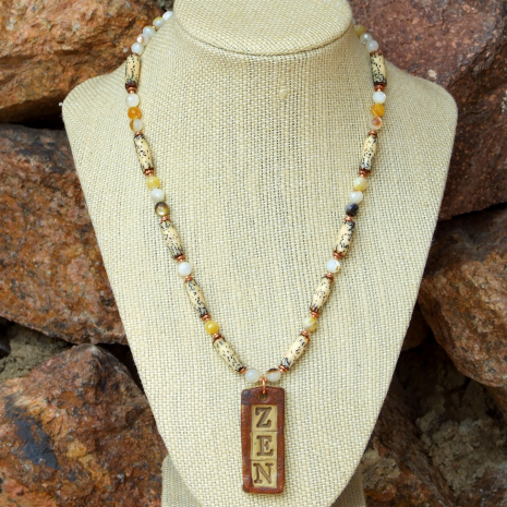 yoga jewelry zen necklace