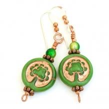 Tree of Life handmade earrings.