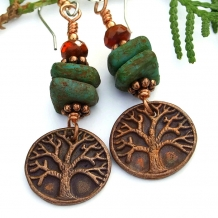 Tree of Life Yggdrasil handmade earrings.