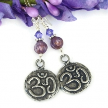 Aum Om earrings