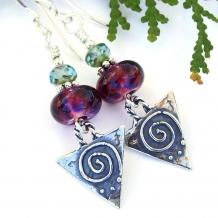Spiral earrings.