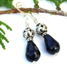 Black onyx and sterling silver handmade jewelry.