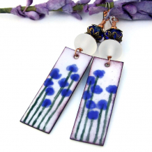 blue flowers earrings