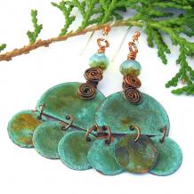 boho gypsy dangle earrings gift for her