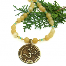 om aum yoga necklace gift for women