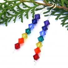 Chakra rainbow earrings.