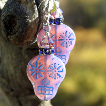 day of the dead halloween opaline sugar skulls earrings with crystals