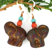 elephant earrings for women