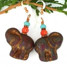 elephant earrings for women