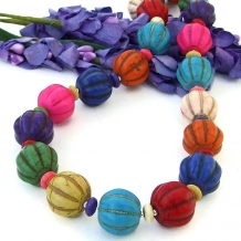 Colorful handmade necklace.