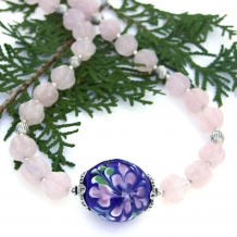 Flower lampwork necklace.