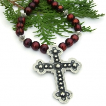 Christian cross necklace