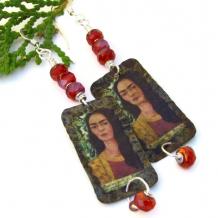 frida kahlo art jewelry earrings gift