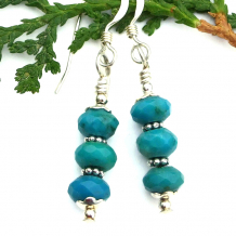 genuine turquoise earrings