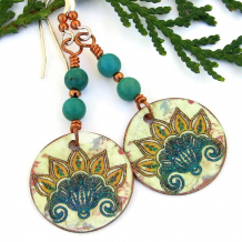 handmade lotus jewelry real turquoise copper