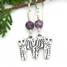Cat earrings.