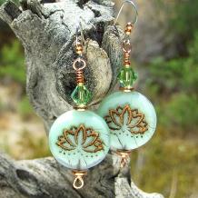 lotus flower earrings gift for women