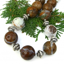 Ocean jasper druzy necklace.