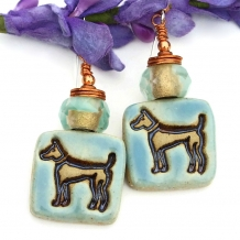 Dog earrings.