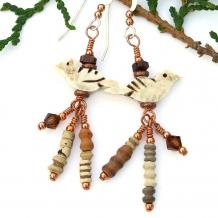 Bird earrings.