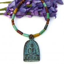 Buddha necklace.