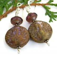 peacock earrings for her gift idea