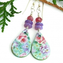 flower earrings for women