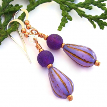purple teardrop dangle jewelry for women