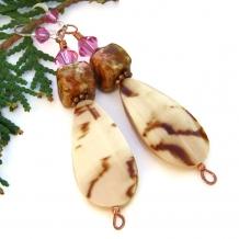 Shell earrings.