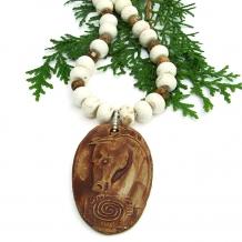 Horse necklace.